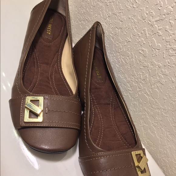 Preview shoes size 8M flats brown leather top buckle